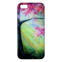 Forests Stunning Glimmer Paintings Sunlight Blooms Plants Love Seasons Traditional Art Flowers Sunsh Apple Iphone 5 Premium Hardshell Case