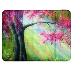 Forests Stunning Glimmer Paintings Sunlight Blooms Plants Love Seasons Traditional Art Flowers Sunsh Samsung Galaxy Tab 7  P1000 Flip Case