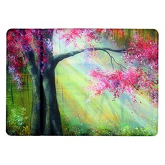 Forests Stunning Glimmer Paintings Sunlight Blooms Plants Love Seasons Traditional Art Flowers Sunsh Samsung Galaxy Tab 10 1  P7500 Flip Case