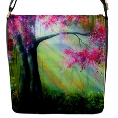 Forests Stunning Glimmer Paintings Sunlight Blooms Plants Love Seasons Traditional Art Flowers Sunsh Flap Messenger Bag (s)