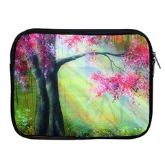 Forests Stunning Glimmer Paintings Sunlight Blooms Plants Love Seasons Traditional Art Flowers Sunsh Apple Ipad 2/3/4 Zipper Cases