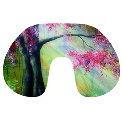 Forests Stunning Glimmer Paintings Sunlight Blooms Plants Love Seasons Traditional Art Flowers Sunsh Travel Neck Pillows