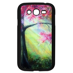 Forests Stunning Glimmer Paintings Sunlight Blooms Plants Love Seasons Traditional Art Flowers Sunsh Samsung Galaxy Grand Duos I9082 Case (black)