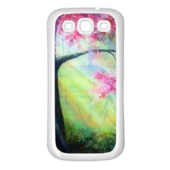 Forests Stunning Glimmer Paintings Sunlight Blooms Plants Love Seasons Traditional Art Flowers Sunsh Samsung Galaxy S3 Back Case (white)
