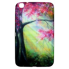Forests Stunning Glimmer Paintings Sunlight Blooms Plants Love Seasons Traditional Art Flowers Sunsh Samsung Galaxy Tab 3 (8 ) T3100 Hardshell Case