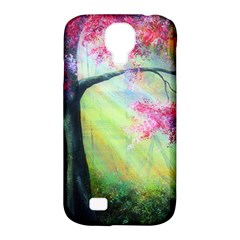 Forests Stunning Glimmer Paintings Sunlight Blooms Plants Love Seasons Traditional Art Flowers Sunsh Samsung Galaxy S4 Classic Hardshell Case (pc+silicone)