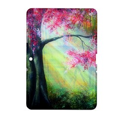 Forests Stunning Glimmer Paintings Sunlight Blooms Plants Love Seasons Traditional Art Flowers Sunsh Samsung Galaxy Tab 2 (10 1 ) P5100 Hardshell Case