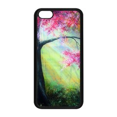 Forests Stunning Glimmer Paintings Sunlight Blooms Plants Love Seasons Traditional Art Flowers Sunsh Apple Iphone 5c Seamless Case (black)