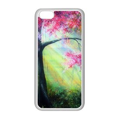 Forests Stunning Glimmer Paintings Sunlight Blooms Plants Love Seasons Traditional Art Flowers Sunsh Apple Iphone 5c Seamless Case (white)