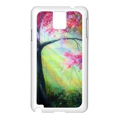 Forests Stunning Glimmer Paintings Sunlight Blooms Plants Love Seasons Traditional Art Flowers Sunsh Samsung Galaxy Note 3 N9005 Case (white)
