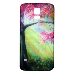 Forests Stunning Glimmer Paintings Sunlight Blooms Plants Love Seasons Traditional Art Flowers Sunsh Samsung Galaxy S5 Back Case (white)