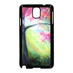 Forests Stunning Glimmer Paintings Sunlight Blooms Plants Love Seasons Traditional Art Flowers Sunsh Samsung Galaxy Note 3 Neo Hardshell Case (Black)