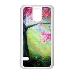 Forests Stunning Glimmer Paintings Sunlight Blooms Plants Love Seasons Traditional Art Flowers Sunsh Samsung Galaxy S5 Case (White)