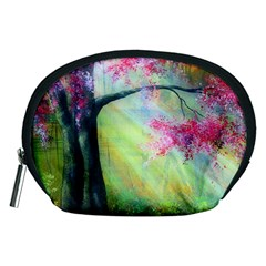 Forests Stunning Glimmer Paintings Sunlight Blooms Plants Love Seasons Traditional Art Flowers Sunsh Accessory Pouches (medium)