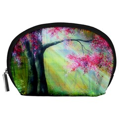 Forests Stunning Glimmer Paintings Sunlight Blooms Plants Love Seasons Traditional Art Flowers Sunsh Accessory Pouches (Large)