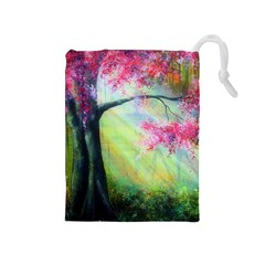 Forests Stunning Glimmer Paintings Sunlight Blooms Plants Love Seasons Traditional Art Flowers Sunsh Drawstring Pouches (medium)