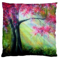 Forests Stunning Glimmer Paintings Sunlight Blooms Plants Love Seasons Traditional Art Flowers Sunsh Large Flano Cushion Case (two Sides)