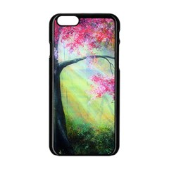 Forests Stunning Glimmer Paintings Sunlight Blooms Plants Love Seasons Traditional Art Flowers Sunsh Apple iPhone 6/6S Black Enamel Case