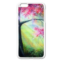 Forests Stunning Glimmer Paintings Sunlight Blooms Plants Love Seasons Traditional Art Flowers Sunsh Apple Iphone 6 Plus/6s Plus Enamel White Case