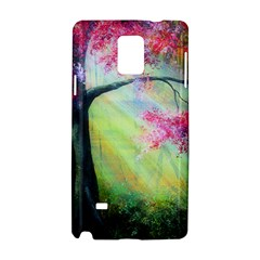 Forests Stunning Glimmer Paintings Sunlight Blooms Plants Love Seasons Traditional Art Flowers Sunsh Samsung Galaxy Note 4 Hardshell Case