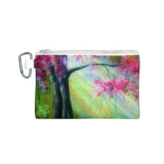 Forests Stunning Glimmer Paintings Sunlight Blooms Plants Love Seasons Traditional Art Flowers Sunsh Canvas Cosmetic Bag (s)