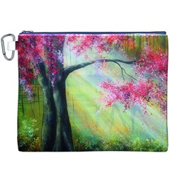 Forests Stunning Glimmer Paintings Sunlight Blooms Plants Love Seasons Traditional Art Flowers Sunsh Canvas Cosmetic Bag (xxxl)