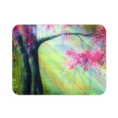 Forests Stunning Glimmer Paintings Sunlight Blooms Plants Love Seasons Traditional Art Flowers Sunsh Double Sided Flano Blanket (Mini)