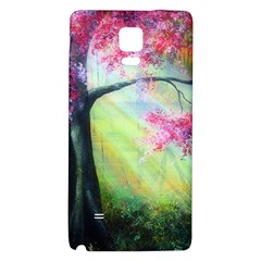 Forests Stunning Glimmer Paintings Sunlight Blooms Plants Love Seasons Traditional Art Flowers Sunsh Galaxy Note 4 Back Case