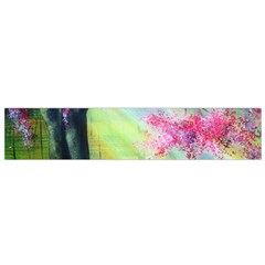 Forests Stunning Glimmer Paintings Sunlight Blooms Plants Love Seasons Traditional Art Flowers Sunsh Flano Scarf (small)