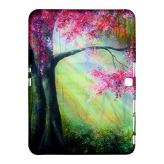 Forests Stunning Glimmer Paintings Sunlight Blooms Plants Love Seasons Traditional Art Flowers Sunsh Samsung Galaxy Tab 4 (10 1 ) Hardshell Case