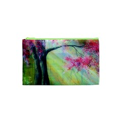 Forests Stunning Glimmer Paintings Sunlight Blooms Plants Love Seasons Traditional Art Flowers Sunsh Cosmetic Bag (XS)