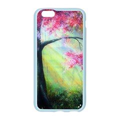 Forests Stunning Glimmer Paintings Sunlight Blooms Plants Love Seasons Traditional Art Flowers Sunsh Apple Seamless iPhone 6/6S Case (Color)