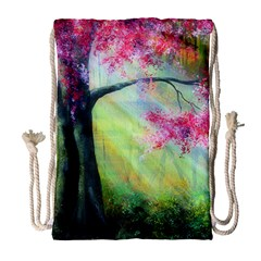 Forests Stunning Glimmer Paintings Sunlight Blooms Plants Love Seasons Traditional Art Flowers Sunsh Drawstring Bag (large)
