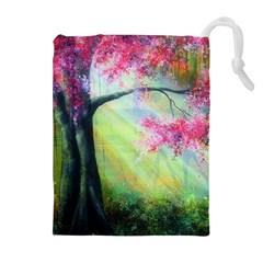 Forests Stunning Glimmer Paintings Sunlight Blooms Plants Love Seasons Traditional Art Flowers Sunsh Drawstring Pouches (extra Large)