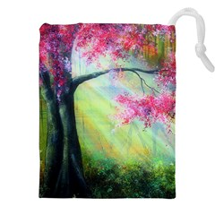 Forests Stunning Glimmer Paintings Sunlight Blooms Plants Love Seasons Traditional Art Flowers Sunsh Drawstring Pouches (XXL)