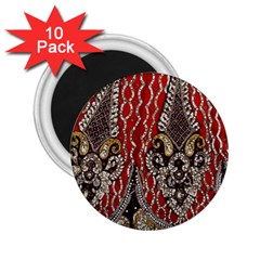 Indian Traditional Art Pattern 2 25  Magnets (10 Pack)