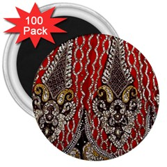 Indian Traditional Art Pattern 3  Magnets (100 Pack)