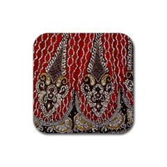 Indian Traditional Art Pattern Rubber Square Coaster (4 Pack)