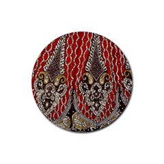 Indian Traditional Art Pattern Rubber Round Coaster (4 pack)