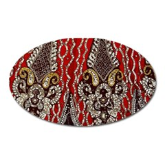 Indian Traditional Art Pattern Oval Magnet