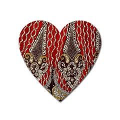 Indian Traditional Art Pattern Heart Magnet