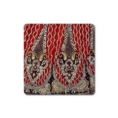Indian Traditional Art Pattern Square Magnet