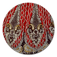 Indian Traditional Art Pattern Magnet 5  (Round)