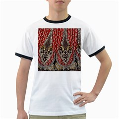 Indian Traditional Art Pattern Ringer T Shirts