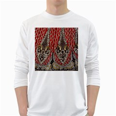 Indian Traditional Art Pattern White Long Sleeve T-Shirts
