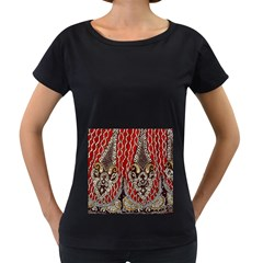 Indian Traditional Art Pattern Women s Loose Fit T Shirt (black)