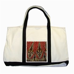 Indian Traditional Art Pattern Two Tone Tote Bag