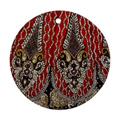 Indian Traditional Art Pattern Round Ornament (Two Sides)