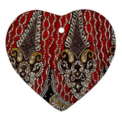 Indian Traditional Art Pattern Heart Ornament (two Sides)