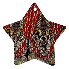 Indian Traditional Art Pattern Star Ornament (two Sides)